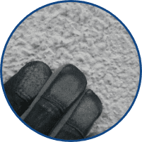白い粉が手につく