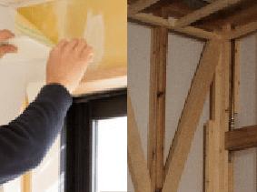 壁紙交換または木材交換