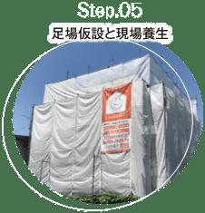 step.05 足場仮設と現場養生